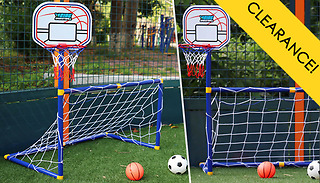 2-in-1 Football & Basketball Sports Toy Set