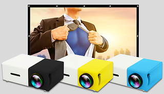 SofaCinema Projector With Optional 84-Inch Projector Screen - 3 Colour ...