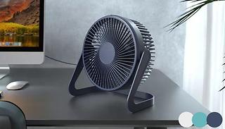 Portable 3-Speed Adjustable Desk Fan - 3 Colours