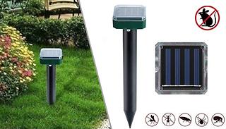 Ultrasonic Solar Garden Pest Repelling Device - 1 or 2