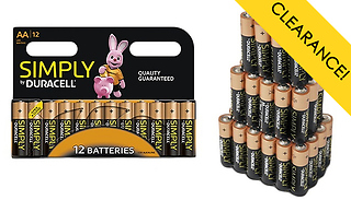 Duracell AA or AAA Batteries - 12, 24 or 36