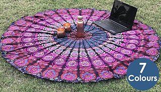 Bohemian Mandala Round Beach Picnic Towel - 7 Colours