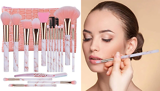 18-Piece Make-Up Brush Set with Cosmetic Bag