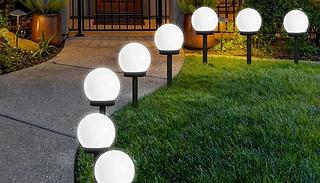 4-Pack of Waterproof Solar Globe Lawn Lights - 2 Colours